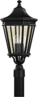 Feiss OL5407BK Cotswold Lane Outdoor Post Lighting, Black, 3-Light (10