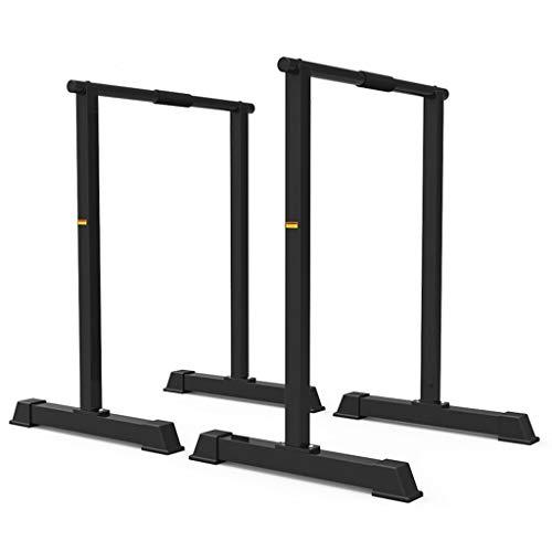 Dip Stands Pull-ups Barres parallèles Simples pour la Maison Supports pour Push-up Multifonctions intérieur et extérieur pour Hommes et Femmes (Color : Black, Size : 60 * 50 * 100cm)