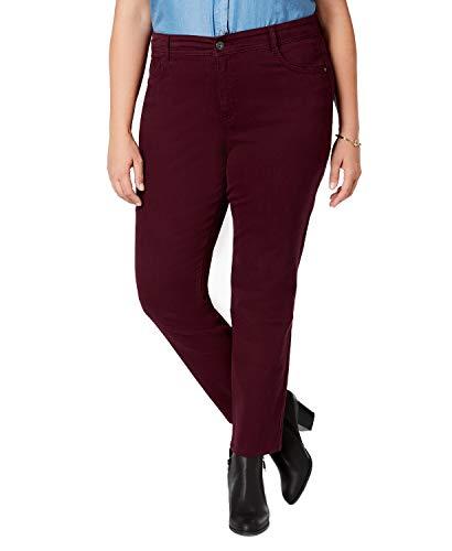 Style & Co. Womens Plus Denim High Rise Skinny Jeans Purple 16W -  51246BJ181