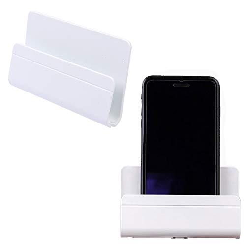 Soporte de Pared para Teléfono Soporte de Control Remoto Adherente Soporte de Carga para Teléfono Soportes para Móviles Compatible con Smartphones Almohadilla Tabletas color blanco