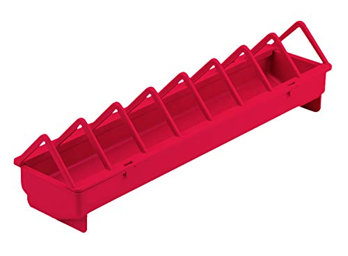 Little Giant Plastic Poultry Trough Feeder (20 in) Heavy Duty Plastic Poultry Trough Feeder with Wide Spacing (Item No. TR20PLW)