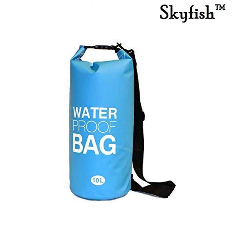 Skyfish 10 L Waterproof Dry Bag for Outdoor Sports, Swimming and Camping- Multi Color