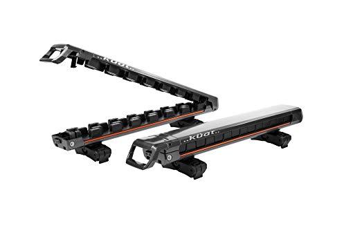 Kuat Grip 4 - Soporte para esquí/snowboard, color gris
