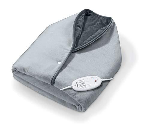 Beurer CC 50 Cosy Wärme-Cape, kuschelige Heizdecke zum Umhängen mit 6 Temperaturstufen und Abschaltautomatik, maschinenwaschbar