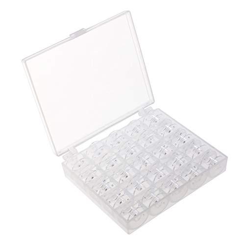 ULTECHNOVO Naaimachine Klossen Kunststof Transparant Naaigereedschap Accessoires Opwindspoelen Met Koffer Voor Borduren Kruissteek 25St