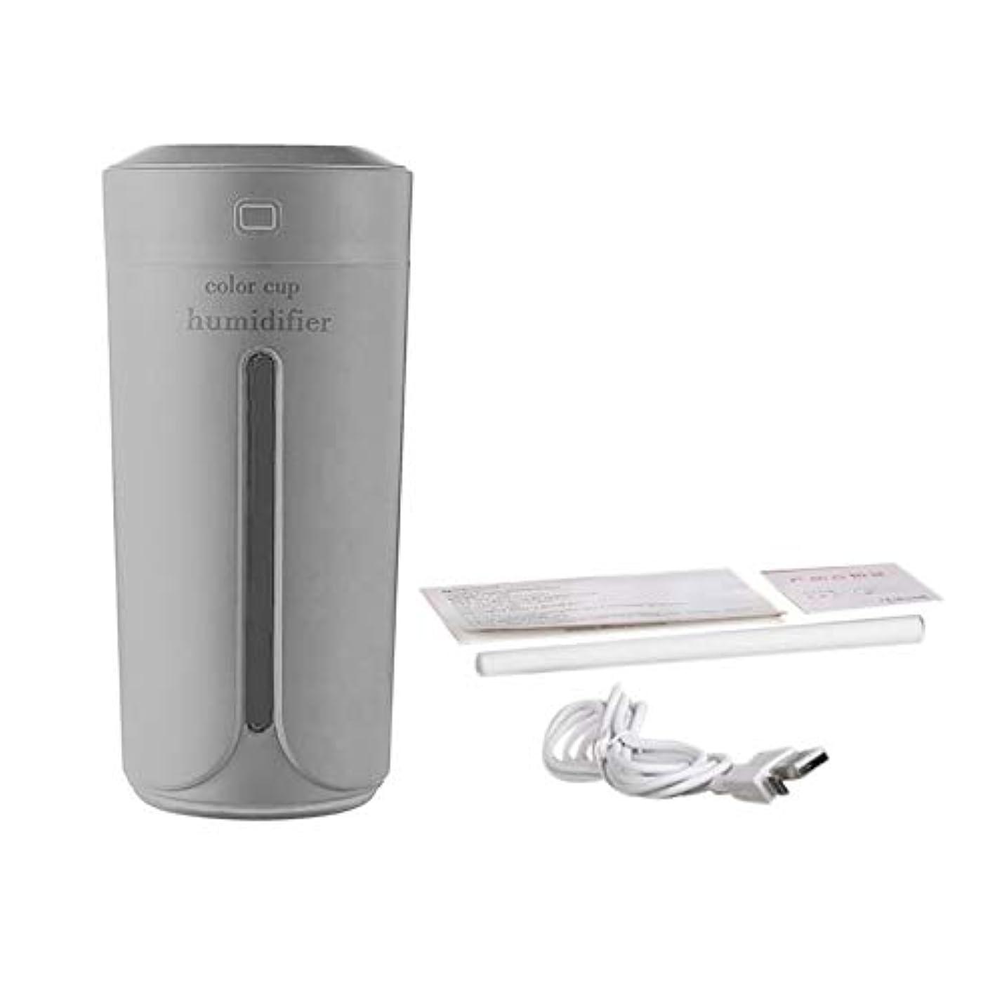 ボックスオリエント薄いですTumdem 車の家のためのミニカップ形状空気加湿器USB充電エアモイスナーノイズレスカラフルなナイトライトミストメーカー