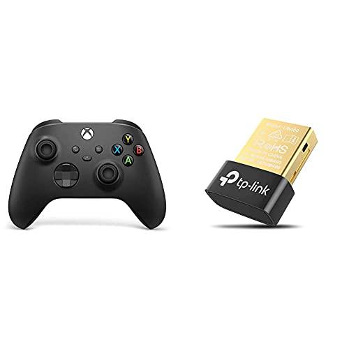 Xbox Wireless Controller Carbon Black & TP-Link UB400 Nano USB Bluetooth 4.0 Adapter Dongle (für PC Laptop Desktop Computer, unterstützt Windows 10/8.1/8/7/XP, Plug & Play für Windows 10/8.1/8)