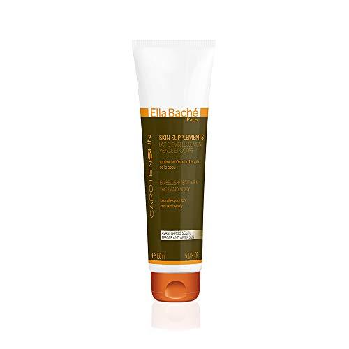 Skin Supplements Lait d'Embellissement - Lait frais après-soleil concentrant aloe vera et sublimateur de hâle - Peau satinée, bronzage sublimé - Parfum floral - Made in France - 150ml