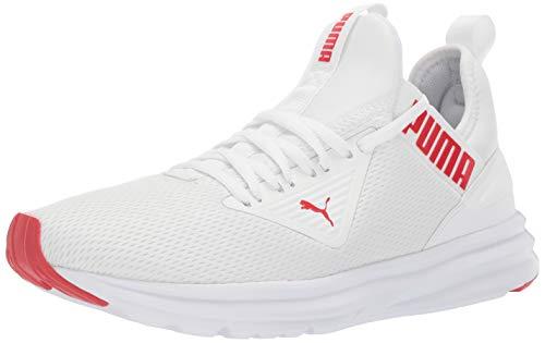 PUMA Men's ENZO BETA Sneaker, White-High Risk Red, 9.5 M US