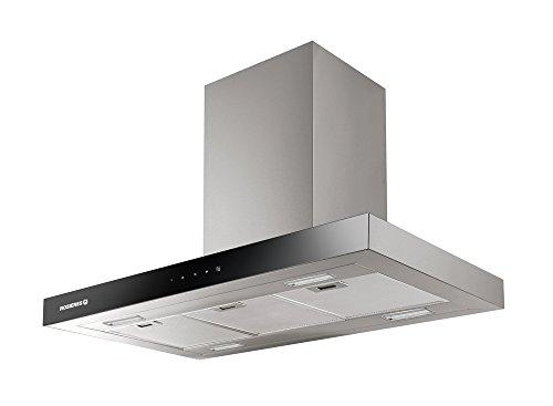 Hotte decorative ilot Rosieres RBVSI985 - Hotte aspirante Box - largeur 90 cm - Débit d'air maximum (en m3/h) : 800 - Niveau sonore Décibel mini. / maxi. (en dBA) : 62 / 79
