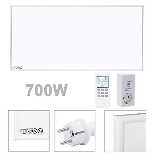 Calefactor de pared por infrarrojos Vingo 700 W – bajo consumo y protección contra sobrecalentamiento