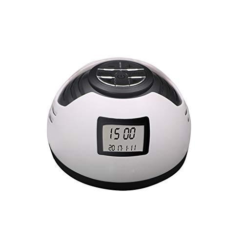 White Noise-machine, inslaaphulp, wit ruismachine, met 8 natuurlijke geluiden, met wekker, ideaal voor kinderen en volwassenen en baby's met automatische uitschakeling ideaal ook