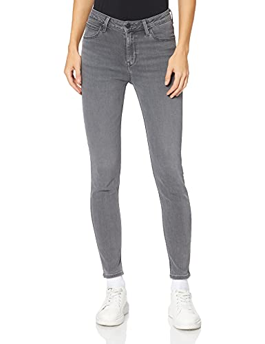 Lee Damen Scarlett HIGH Jeans, Grey Holly, 29W /...