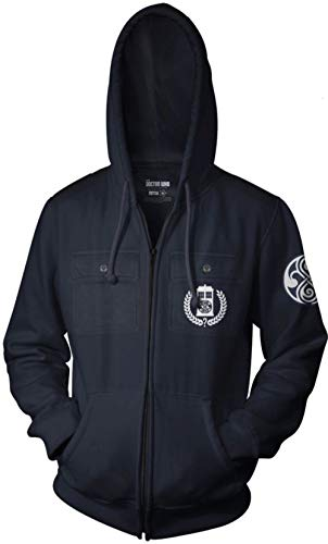 Ripple Junction Doctor Who Adult Timelords Gallifrey Full Zip Fleece Hoodie MD Navy