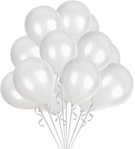 Sinwind Luftballons Weiß, 100 Stücke Weiße Ballons Helium Luftballon Latex Weiss Ballons Ø 30 cm für Hochzeit Valentinstag Party Deko (Weiß100)