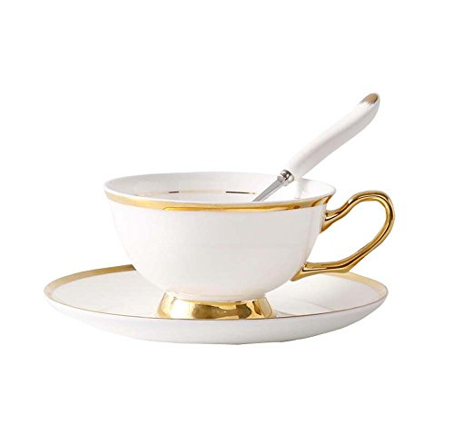 Hornet Park Taza de café/té Elegante de China con Plato y Cuchara J