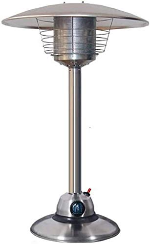 LJYY Calentador de Patio de Banco de 3kW, Quemador doméstico portátil de Acero Inoxidable para Exteriores para jardín de cenador Camping-A