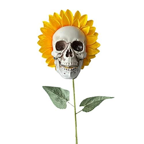 PRETYZOOM 1Pc Decorações de Halloween Decorações Crânio Crânio Decorações De Aniversário Grandes Girassóis Crânio Haunted House Decoração Enfeite de Halloween Ao Ar Livre Decoração Do