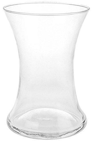 20 cm clair évasé en verre Vase contemporain Vase col large