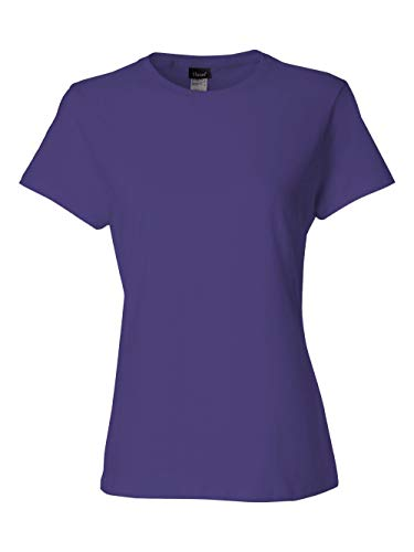 Hanes 4.5 oz Women's NANO-T Lightweight Premium T-Shirt - Purple - M