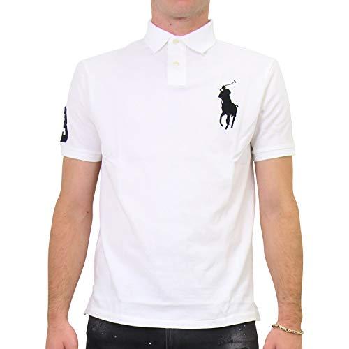 Ralph Lauren - Polo para hombre, ajustado, talla S, color blanco