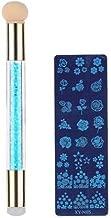 BeautyQua 1 Sets Nail Art Tools Double Head Dye Sponge Pen+Scraper+Nail Printing Plate Sets Tool (Multicolor)