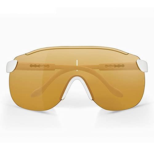 NZAUA Gafas de Ciclismo Gafas de Sol Deportivas, Gafas polarizadas con 3 Lentes Intercambiables, béisbol Correr Fishing Golf F