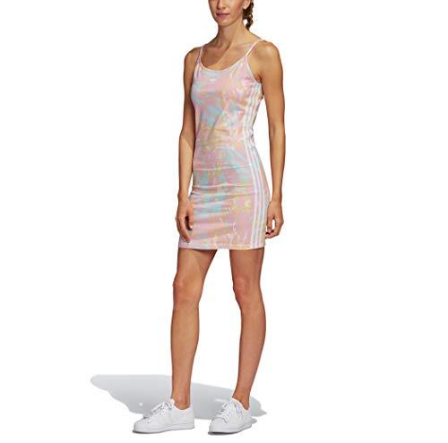 adidas Originals Vestido sin mangas con estampado de teñido anudado para mujer