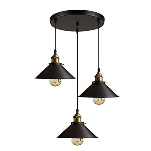 TVDCC Araña - antiguo del metal de la vendimia de cristal de madera decorativa Lámpara colgante retro de la lámpara pendiente de la personalidad creativa de vida Comedor Dormitorio Estudio lámpara de