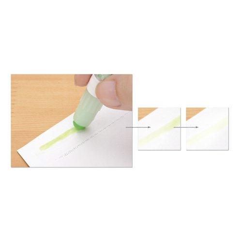 ヤマトカラーグルースティック色消えスティックのり蛍光グリーンCG-2G