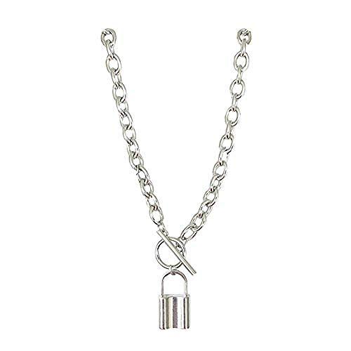 Collar de candado pequeño cadena de clavícula femenina