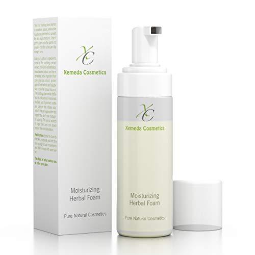 Feuchtigkeitsspendender Kräuterschaum - für eine sanfte & schonende Gesichtsreinigung, mit essentiellen Inhaltsstoffen aus der Natur, 150ml, vorbeugend gegen Akne, Hautunreinheiten, Mitesser & Pickel