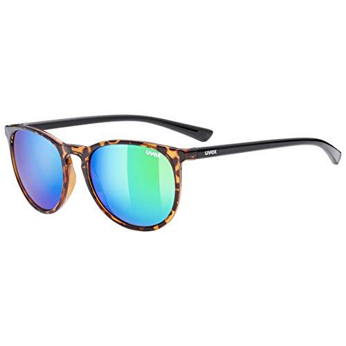 uvex Unisex– Erwachsene, lgl 43 Sonnenbrille, havanna/green, one size