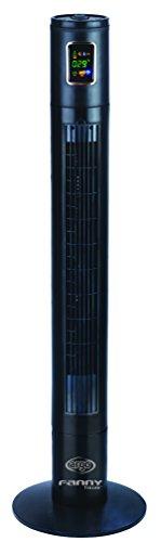 ARGO Fanny Tower Ventilatore, 45 W, 230 V, Nero