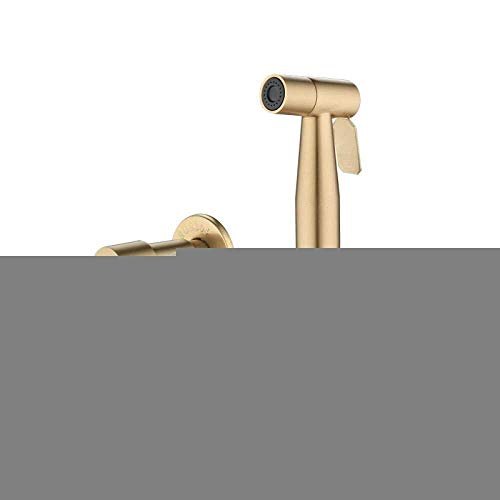 COOLSHOPY Aseo de Mano Spray de Acero Inoxidable Ducha Conjunto for el pañal del paño del bebé - Kit de Grifo Cepillado Antiguo Oro bidé Handheld pulverizador baño