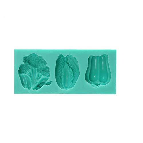 Canjerusof 1 Pc-silikon-Kuchen-Form Broccoli Chinakohl Paprika-Form-plätzchen-Fondant-schokoladen-Form DIY Backen-Werkzeuge