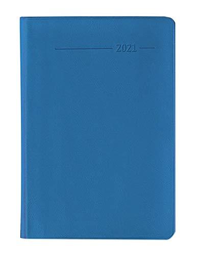 Alpha Edition - Agenda Settimanale Monocromo 2021, Formato Tascabile 8x11,5 cm, Acqua, 144 Pagine