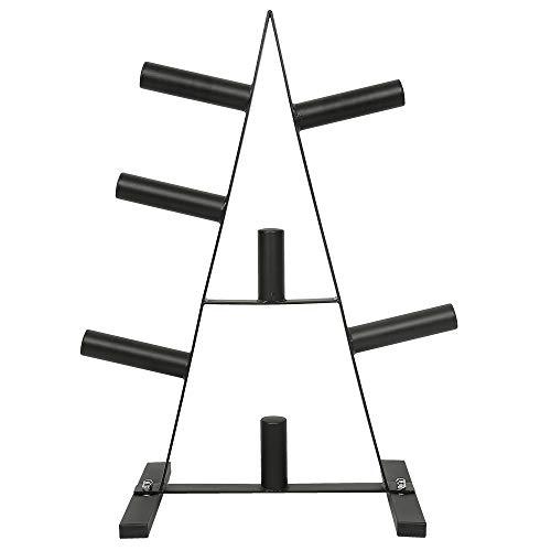Hantelscheibenständer Hantelbaum, Solider Hantelbaum mit 7 Aufnahmen, Durchmesser Scheibenaufnahme 5cm, Multiständer für Gewichtsscheiben, Hanteln und Stangen, Belastbar bis 200 kg