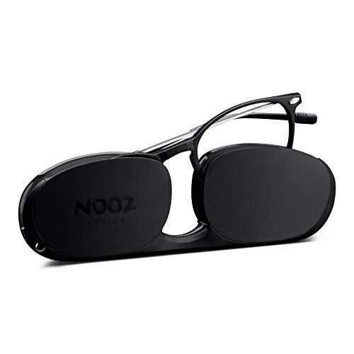 Nooz Optics - Lesebrille - Essential Alba - Ovale Form - Ultra leichtee Nylonrahmen - Ultra-kompaktes Etui für den täglichen Gebrauch - 6 Farben - Männer und Frauen,Schwarz,+3