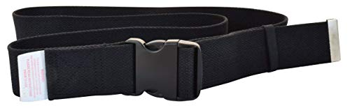 Secure SGB-60B Transfer and Walking Gait Belt with EZ Release Buckle and Belt Loop Holder for...