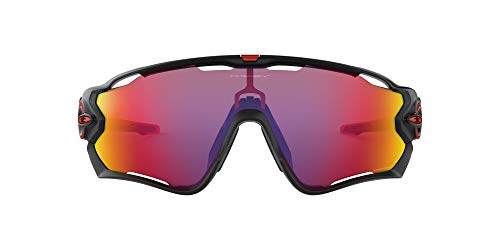 Oakley Men's OO9290 Jawbreaker Shield Sunglasses, Matte Black/Prizm Road, 31 mm