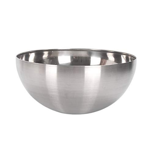 UPKOCH Ensaladera de acero inoxidable Tazón de mezcla de anidación Contenedor de batido de huevo para restaurante en casa (20x9 cm)