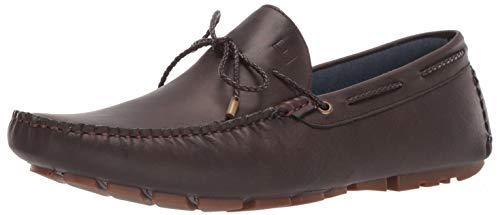 Tommy Hilfiger Men's Arias Driving Style Loafer, Dark Brown, 9