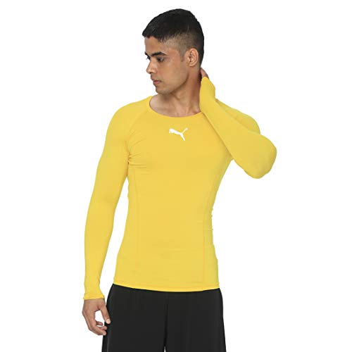 Puma Herren Liga Baselayer Tee Ls Shirt, Cyber Yellow, 48/50