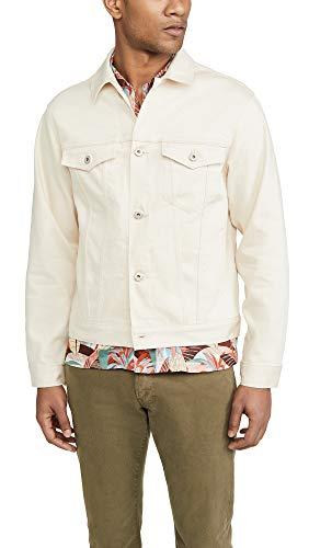 Naked & Famous Men's Natural Seed Denim Jacket, Natural Seed Denim, Off White, Large