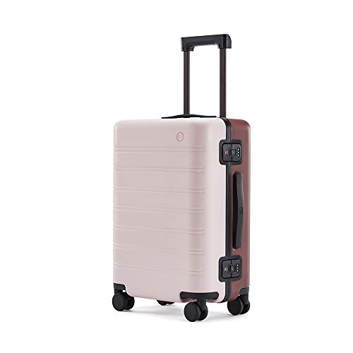NINETYGO スーツケース 機内持ち込み 軽量 Sサイズ 静音 小型 キャリーケース TSAロック搭載 一体成型フレーム 360度回転 2泊 3泊 出張 旅行 39L おしゃれ 人気色 ダブルカラー ピンク バーガンディ
