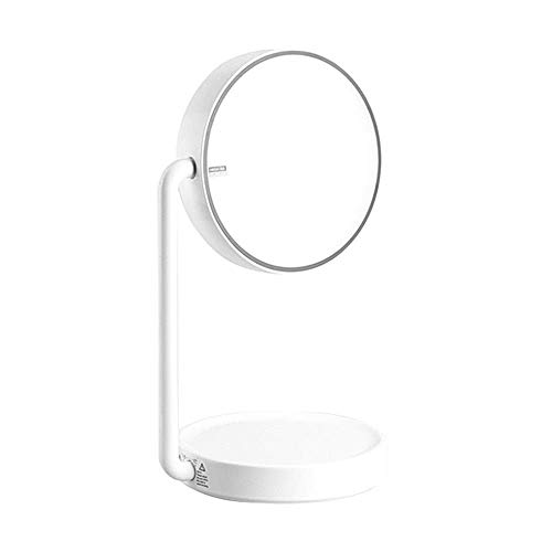 Make Up Mirror with Lights Travel Cosmetic Mirror Lighted Vanity Mirror with 35 Lights,Touch Screen and 3X/2X/1X Magnification Mirror,Two Power Supply Mode Tabletop Makeup Mirror