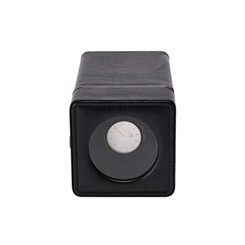 SYWJ Antimagnético Devanadera de Reloj Individual, Caja de presentación de Relojes de Cuero de PU Hecha a Mano - Negro