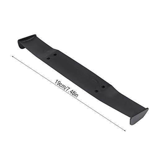 Changor Accesorio de RC Negro, plástico de moldeo por inyección de plástico con ala de Cola de ala ala para 1/10 Escala de automóvil RC