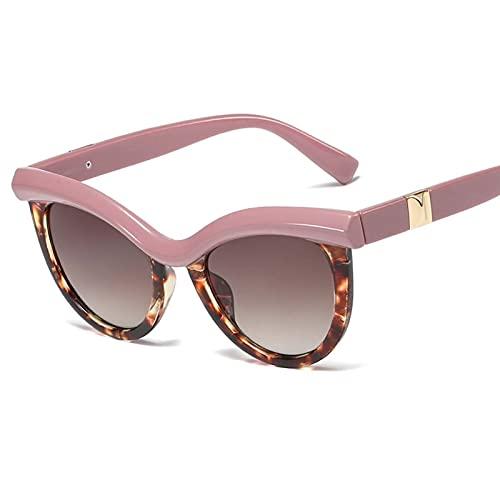 AMFG Tendencia europea y americana Ladies Gafas de sol Medio marco Moda Gafas de sol Gafas de sol Viajes de playa al aire libre (Color : C)